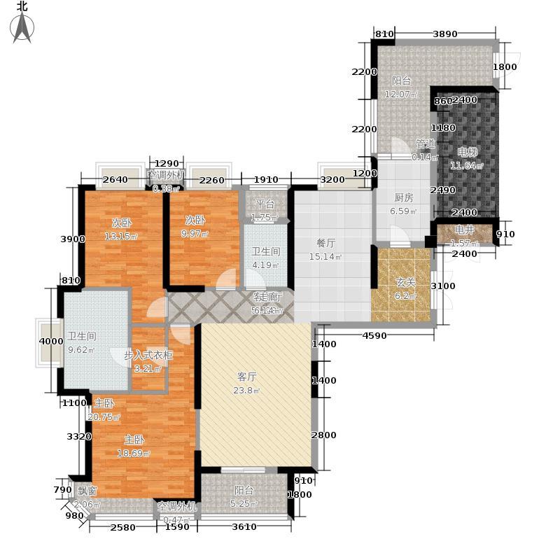 华润橡树湾179.00㎡3H12-10层02单元3室户型