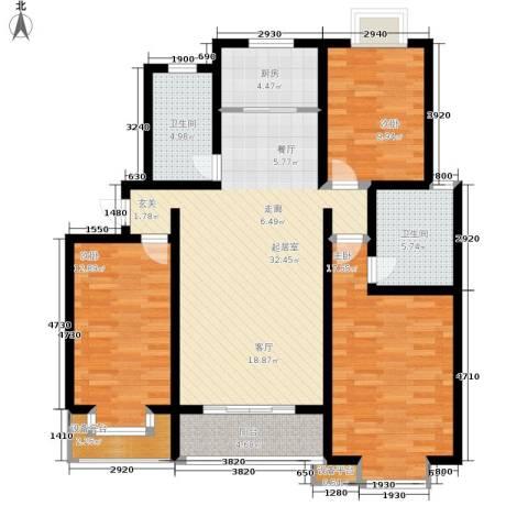 金桥新城3室0厅2卫1厨111.00㎡户型图