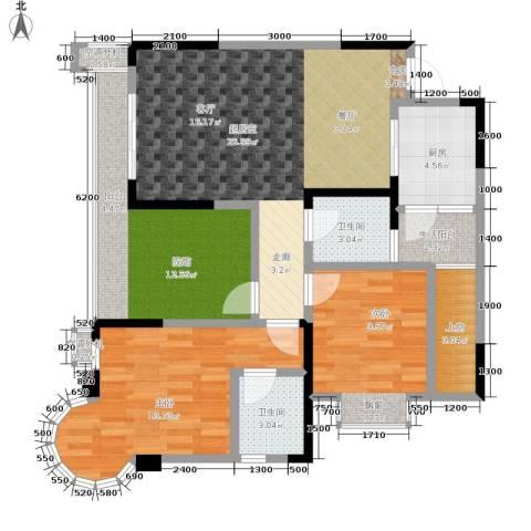 银翔城2室0厅2卫1厨98.00㎡户型图