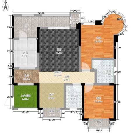 银翔城2室0厅2卫1厨100.00㎡户型图
