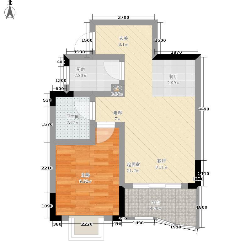 金银苑42.15㎡1面积4215m户型