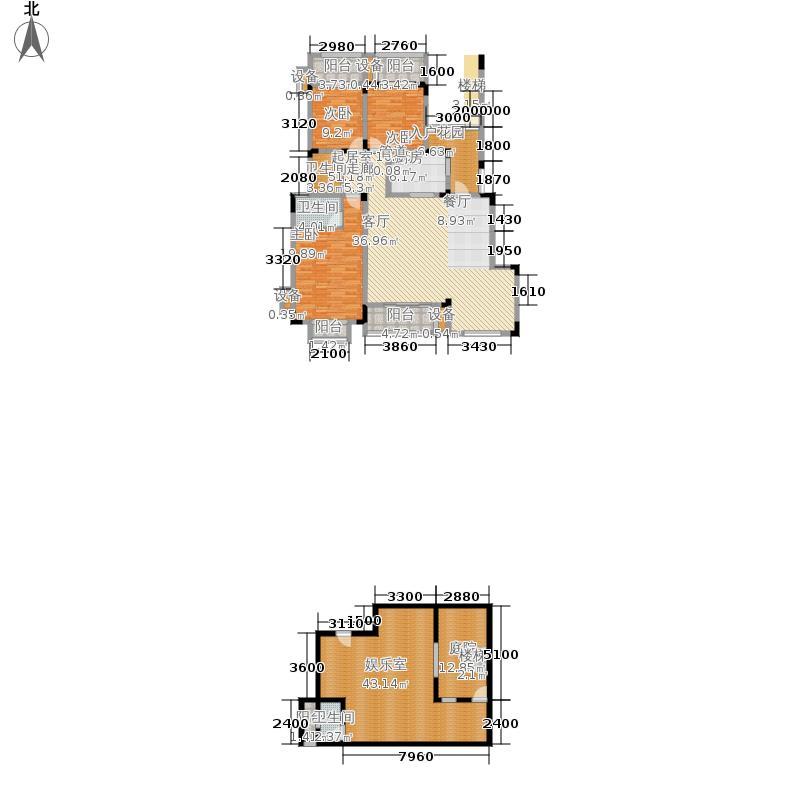 北温泉九号二期森邻海149.43㎡27、36号楼洋房跃层B2号户型