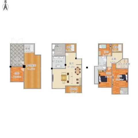 城南公馆4室1厅2卫1厨312.00㎡户型图