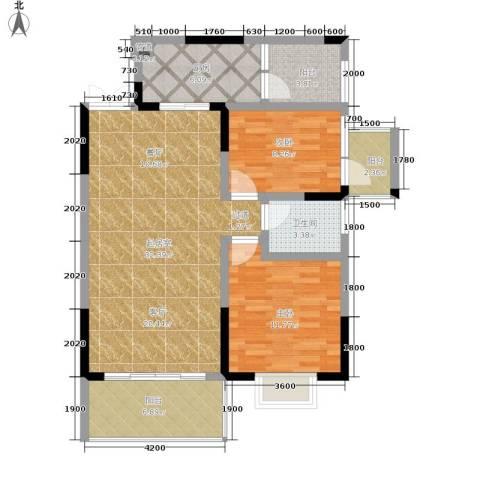 九鼎名都2室0厅1卫1厨79.00㎡户型图