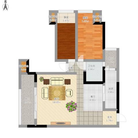 合正锦园2室1厅1卫1厨96.00㎡户型图