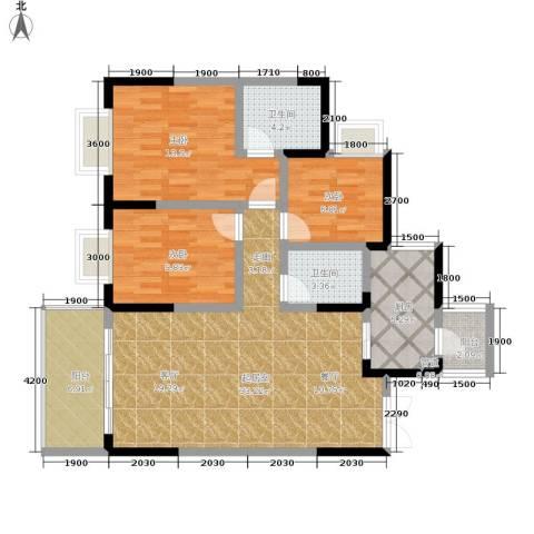 九鼎名都3室0厅2卫1厨95.00㎡户型图