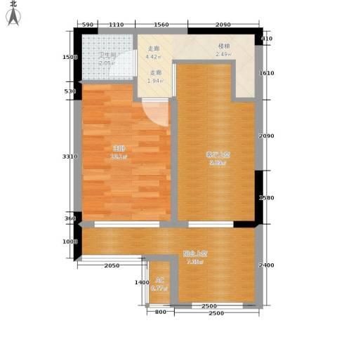 金科开州财富中心1室0厅1卫0厨69.00㎡户型图