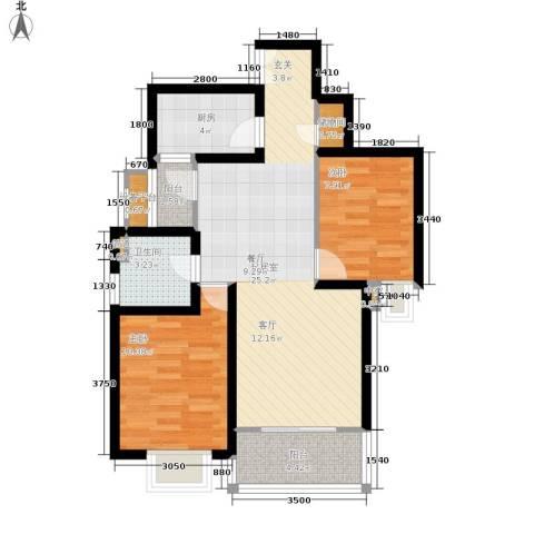 海桐小区2室0厅1卫1厨86.00㎡户型图