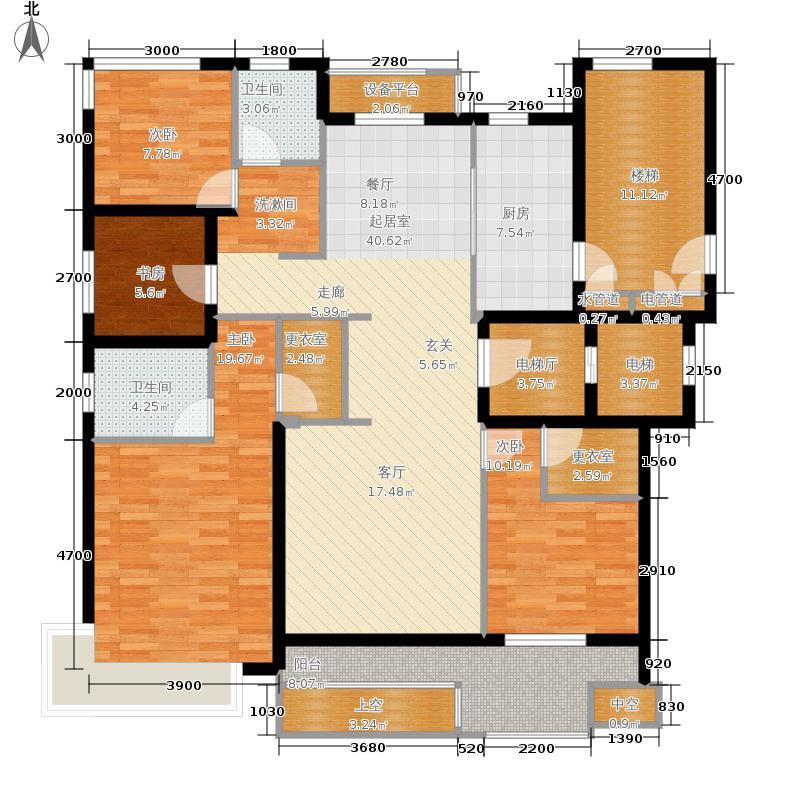大华西溪风情澄品134.00㎡B1户型4室2厅