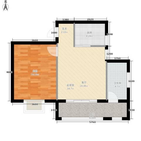 二零七六1室0厅1卫1厨49.43㎡户型图