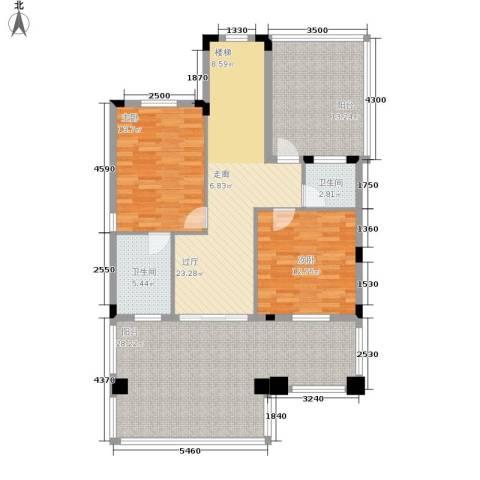 三正卧龙山2室0厅2卫0厨140.00㎡户型图