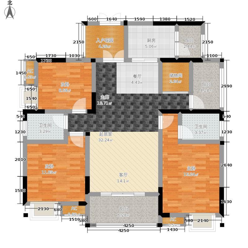 风花树131.70㎡6号楼4号房户型3室2厅