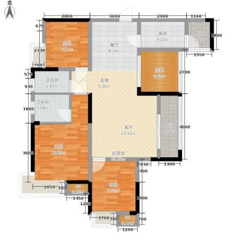 巨龙江山国际3室0厅2卫1厨110.00㎡户型图