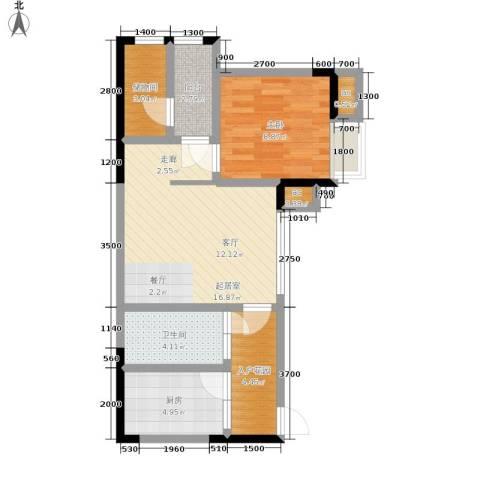 巨龙江山国际1室0厅1卫1厨62.00㎡户型图
