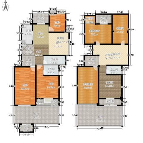缇香一品3室1厅3卫1厨254.00㎡户型图