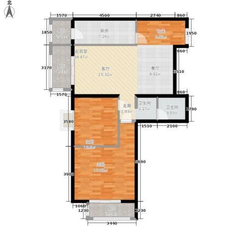 格调2室0厅1卫1厨120.00㎡户型图