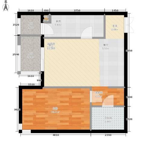 格调1室0厅1卫1厨73.00㎡户型图