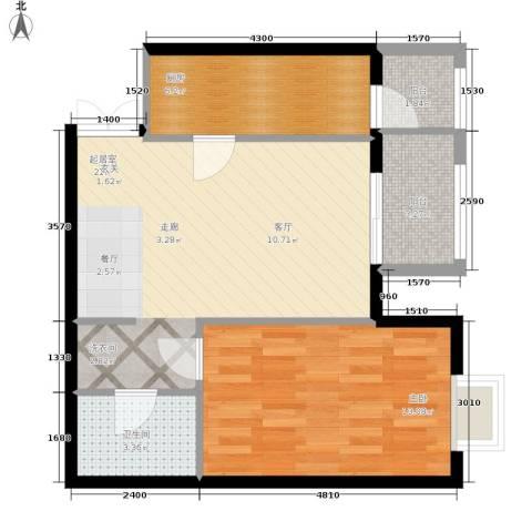 格调1室0厅1卫1厨70.00㎡户型图