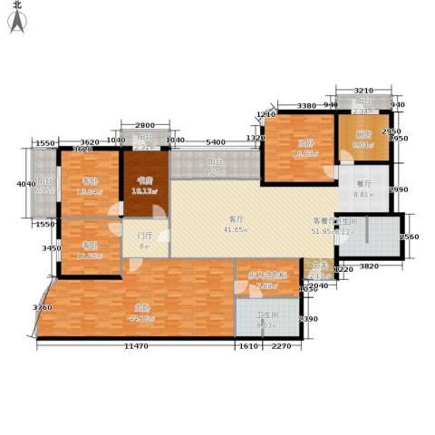 城市芳庭5室1厅2卫1厨231.00㎡户型图