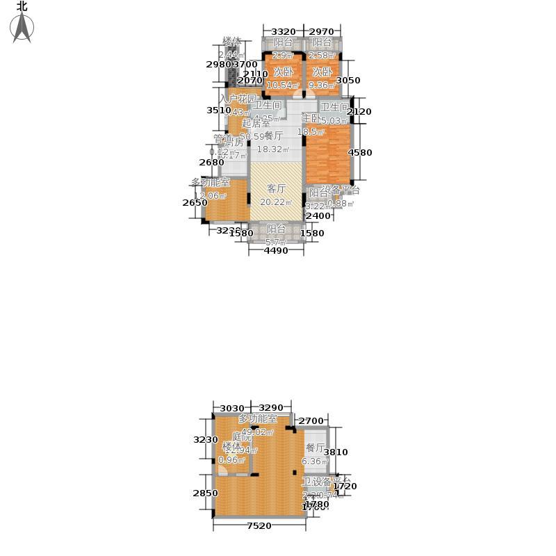 北温泉九号二期森邻海144.37㎡27、36号楼跃层A2号户型