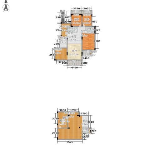 北温泉九号二期森邻海3室0厅3卫1厨222.91㎡户型图