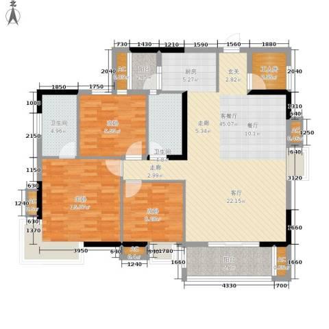 嘉信御庭苑3室1厅2卫0厨145.00㎡户型图