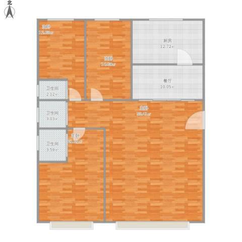 龙湖・长楹天街4室1厅3卫1厨177.00㎡户型图