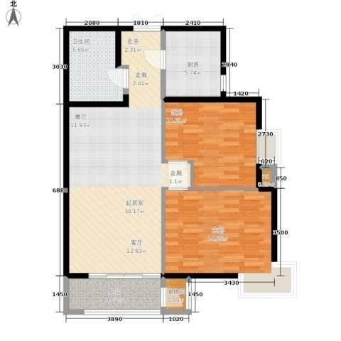 格调2室0厅1卫1厨108.00㎡户型图