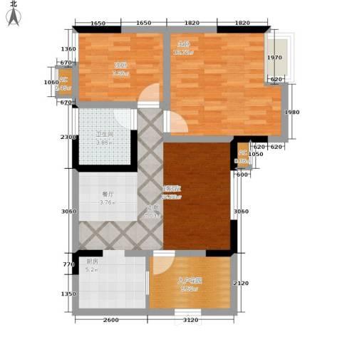 天生丽街2室0厅1卫0厨60.00㎡户型图