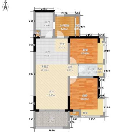 雍晟状元府邸2室1厅1卫1厨110.00㎡户型图