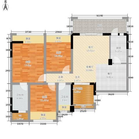 雍晟状元府邸3室1厅2卫1厨146.00㎡户型图