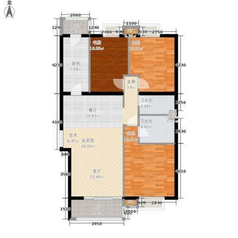 格调3室0厅2卫1厨137.00㎡户型图