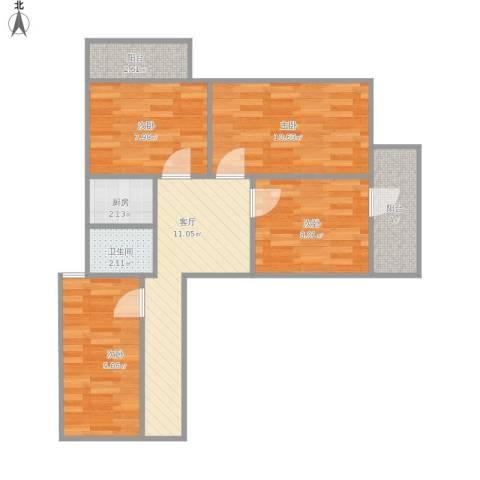 营口道三乐里4室1厅1卫1厨79.00㎡户型图