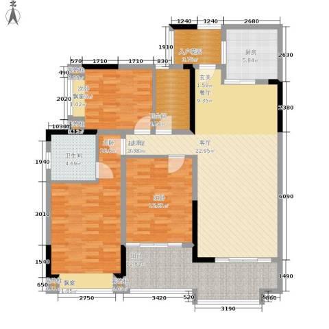 中瓯璧河名都3室0厅2卫1厨139.00㎡户型图