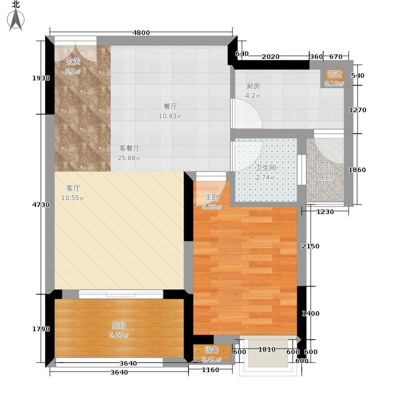 金科visar国际52.00㎡二期1号楼面积5200m户型