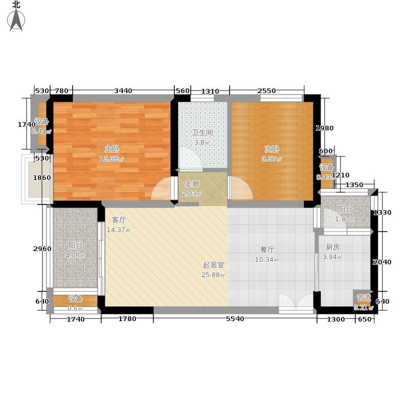 金科visar国际68.10㎡二期2号楼面积6810m户型