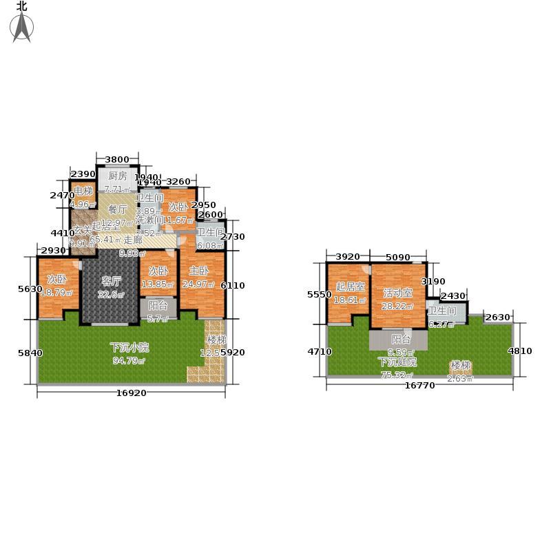 紫睿天和117.16㎡2期睿界11号楼A首层户型4室2厅