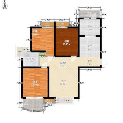 爱家星河国际3室0厅1卫1厨120.00㎡户型图