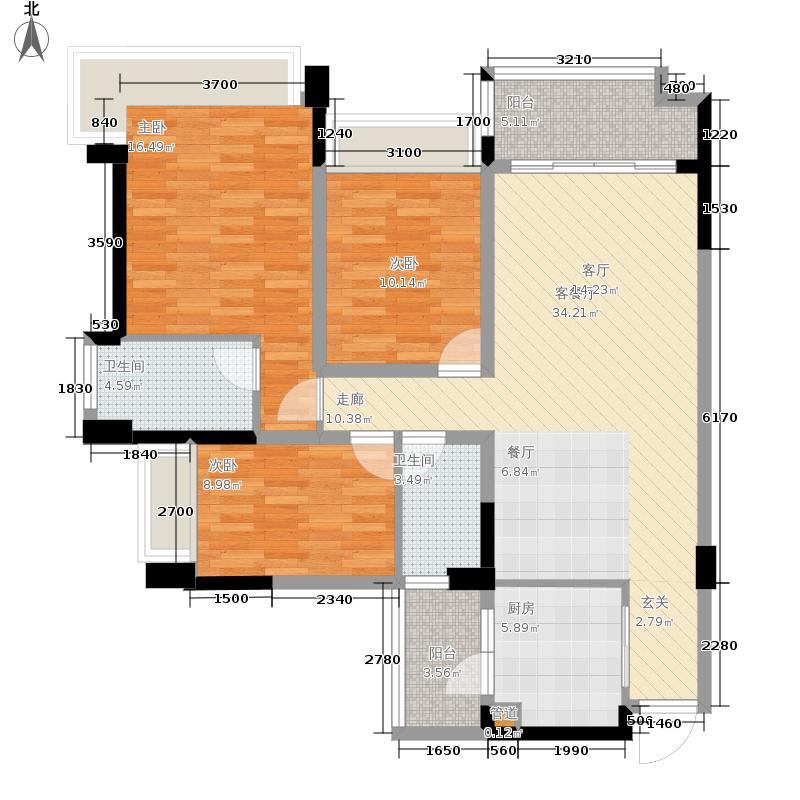 雅居乐清水湾113.00㎡幸福万象02户型3室2厅