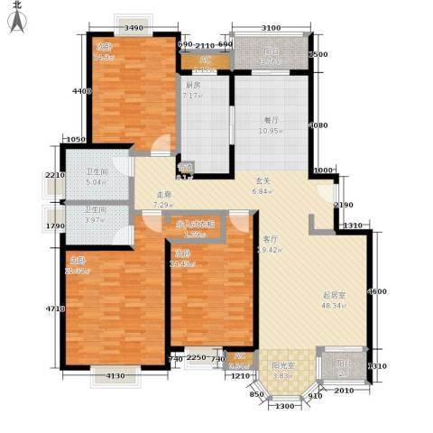 合生城邦三街坊3室0厅2卫1厨141.00㎡户型图