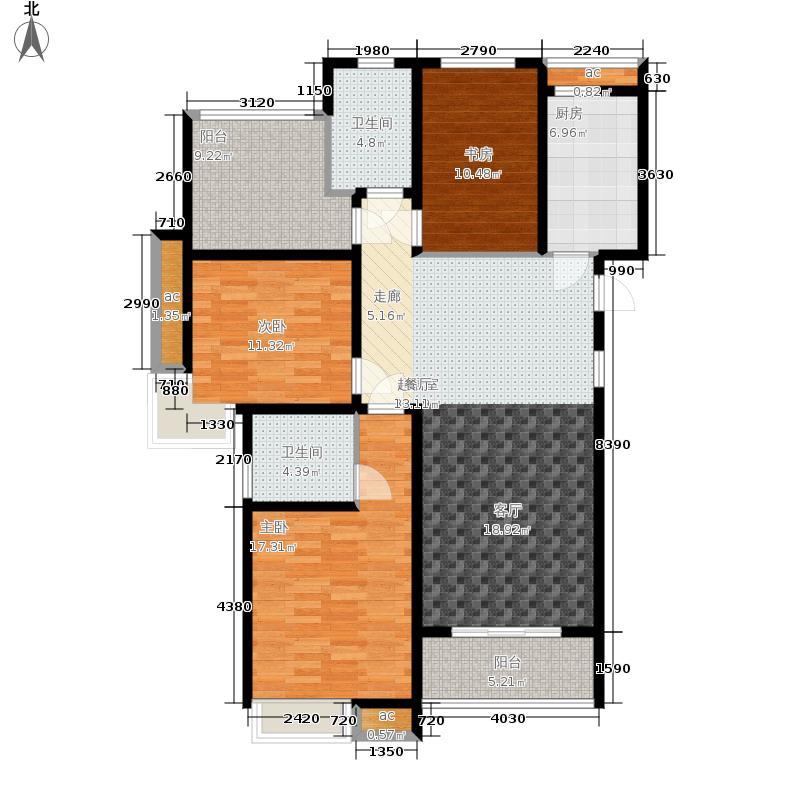 中铁诺德誉园128.00㎡D户型3室2厅