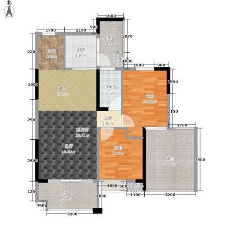 奥园康城B区2室0厅1卫1厨107.00㎡户型图