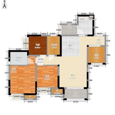保利可爱岛3室0厅2卫1厨122.00㎡户型图