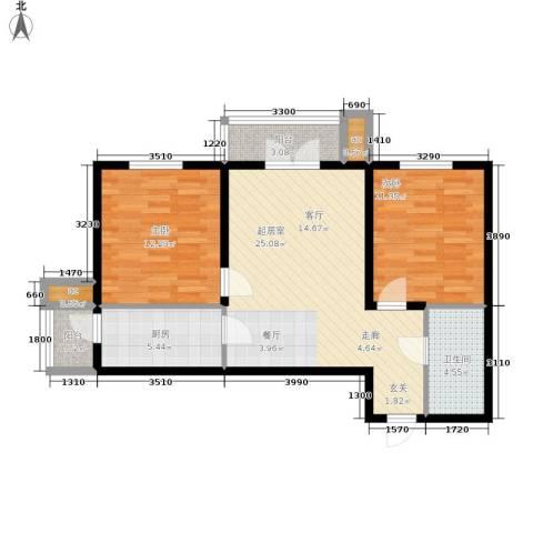和平时光2室0厅1卫1厨94.00㎡户型图