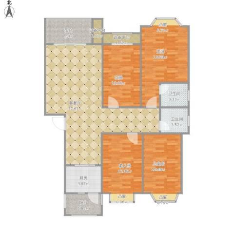 盛世豪庭4室1厅2卫1厨157.00㎡户型图
