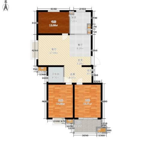 东城天骄3室0厅1卫1厨114.00㎡户型图