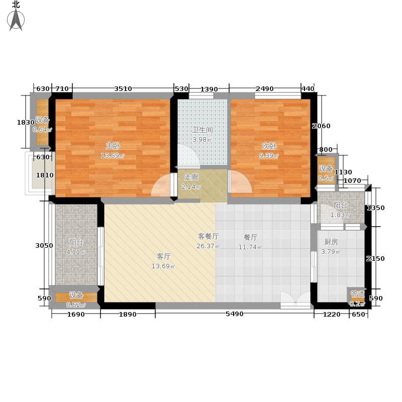 金科visar国际68.00㎡二期1号楼面积6800m户型