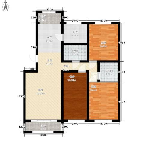 金地卡诗维亚3室0厅2卫1厨125.00㎡户型图