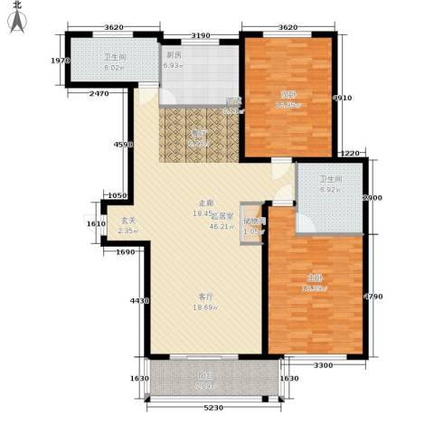瑞金尊邸2室0厅2卫1厨124.00㎡户型图