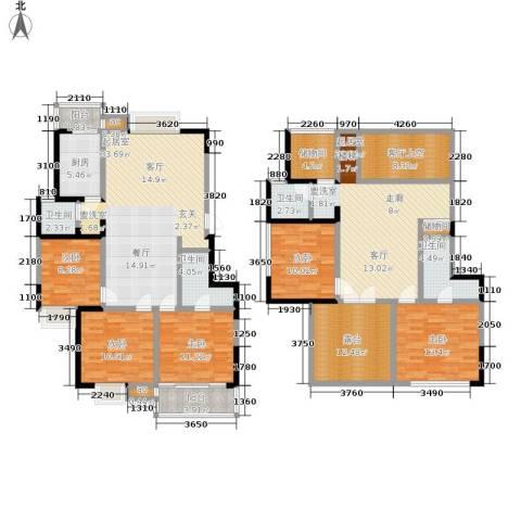 武夷商城5室0厅4卫1厨189.00㎡户型图